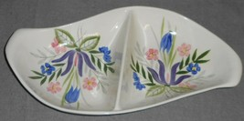 1950s Red Wing Country Garden Pattern Divided Vegetable Made In Minnesota - $47.51