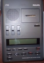 Philips 1730 microcassette transcriber with foot pedal, headset, warranty - $189.99