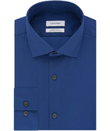 NWT Calvin Klein Men's Size 17.5 32/33 Ultra Blue Xtreme Slim Fit Dress ... - $29.65