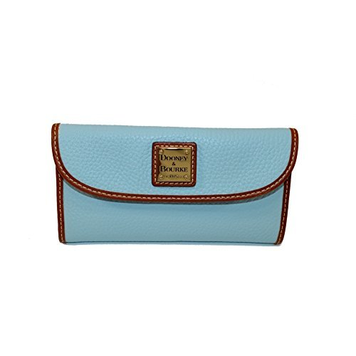 Dooney & Bourke Pebble Grain Continental Clutch,Pale Blue Wallet