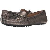 New Michael Kors Daisy Moc Flats metallic nickel loafers leather upper b... - $57.84