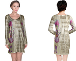 Retro space waitress long sleeve night dress thumb155 crop