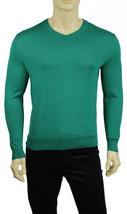NEW MENS CALVIN KLEIN V NECK GREEN COTTON MODAL PULLOVER SWEATER XL $79 - $26.99