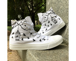 Wen Birds Cage Classic White Canvas Shoes Hand Painted Sports Sneakers Men Women