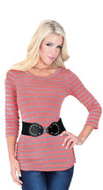 New Fashion Women Ladies Casual Blouse Colombian Instant Fit with belt 14219 - $34.95