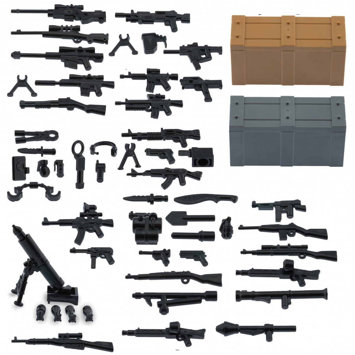 guns weapons pack for lego minifigures minifig accessories set a and b weapons pack with crates