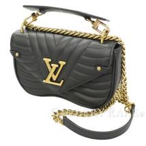 LOUIS VUITTON New Wave Chain Bag PM Calf Noir M51683 Italy Authentic 538... - $2,077.99