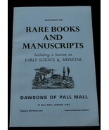 Rare Books and Manuscripts, Dawsons of Pall Mall, Catalogue 149, VGC - $7.91