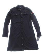 Polo Ralph Lauren Girls Dress L 12-14 Nautical Dark Blue Long Sleeve - $28.05