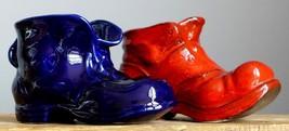 2xVintage 60-70's BOOTS / SHOE Figurine/Planter Pot/Vase Set German Fat ... - $24.74