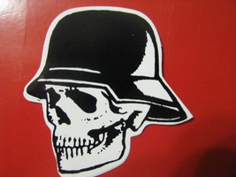 Halloween small sticker skull skeleton  helmit facing left scary - £7.64 GBP