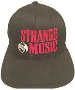 Strange Music Logo Hip Hop Record Label Adult Unisex Black Red Cap S-M New - $39.59