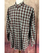 Ralph Lauren Polo Button Down Long Sleeve Cotton Red Check Shirt Men's L/XL - $19.79