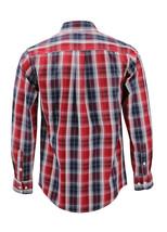 Men's Cotton Casual Long Sleeve Classic Plaid Button Up Dress Shirt - Medium image 2