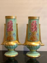 Impressive Fine Pair of Antique Hand Painted Old Paris Porcelain Vase - $999.00