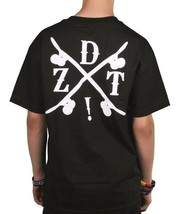 Dissizit Mens Black Sk8 Xing Skate Crossing T-Shirt