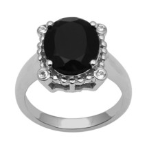 4.20 Ctw Black Spinel 925 Sterling Silver Ring Shine Jewelry Size-9 SHRI... - €16,86 EUR