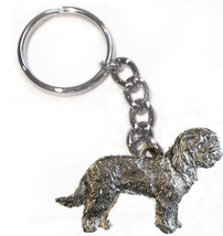 Goldendoodle Dog Keychain Keyring Harris Pewter Made USA Key Chain Ring - $9.48