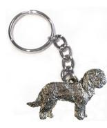 Goldendoodle Dog Keychain Keyring Harris Pewter Made USA Key Chain Ring - $9.48