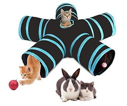 ETOTOO Cat Tunnel 3 Way, Collapsible Pet Play Tube with Ball and (5 way) - $42.87 CAD
