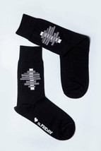 Designer Socken Suprematism Ilya Chashnik Black Natural Cotton - $10.11