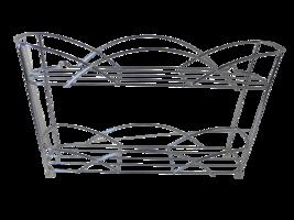 2 Tier Spice Rack Stainless Steel Jars Bottle Shelf Storage Organizer Ki... - $24.04
