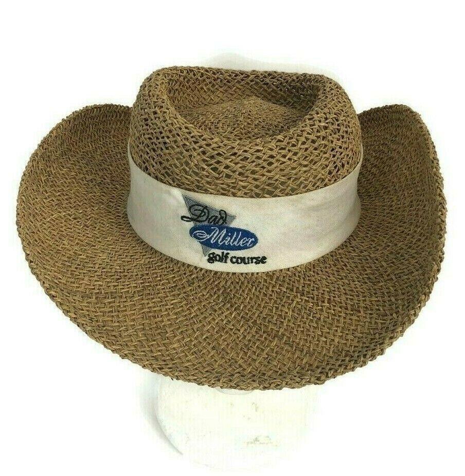 DPC Dorfman Pacific Co. Dad Miller Golf Course Men's Seagrass Straw Hat Small