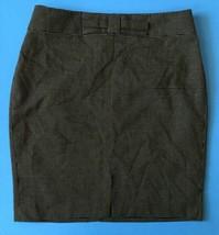 Banana Republic Black Polka Dot Pencil Skirt Size 6 Bow Waist Bottom Sli... - $14.84