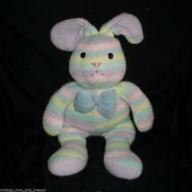 "18"" BIG 2001 COMMONWEALTH BLUE PINK GREEN BUNNY RABBIT STUFFED ANIMAL PL... - $45.82"