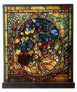 """Tiffany Style The Four Seasons """"AUTUMN"""" Stained Art Glass Window Panel D... - $96.52"""