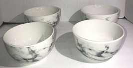 Beautiful White Marble CEREAL/SERVING Bowl Set Of 4-Micro/Dish Safe-Brand New - $39.48