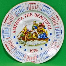 Vintage 1979 Patriotic Calendar Collector Plate... - $3.95