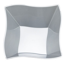Plastic 14 Oz. Silver Wave Soup Bowl/Case of 120 - €62,40 EUR