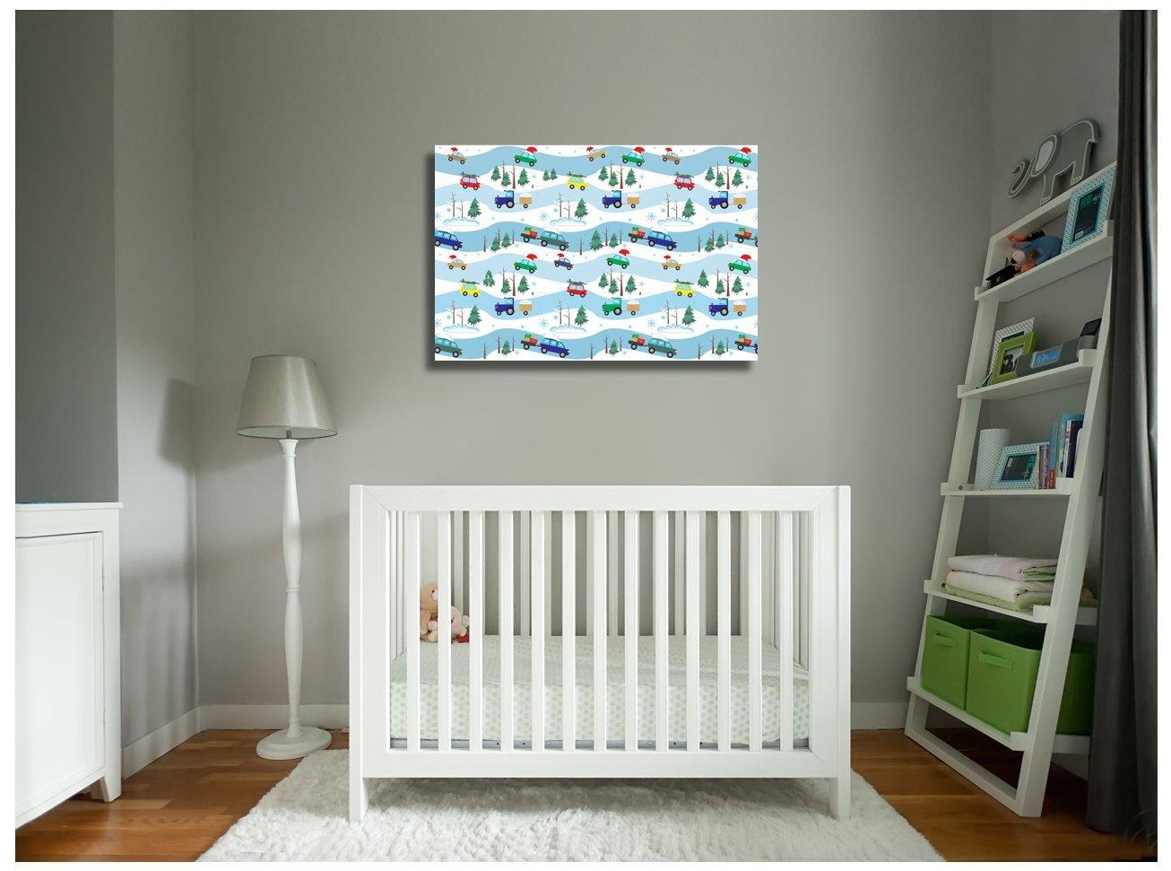 "Pingo World 0722Q9TVSNY ""Cars, Vans and Trucks Children Kids"" Gallery Wrapped Ca"