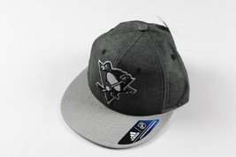 New Sample ADIDAS Pittsburgh Penguins Hockey NHL Fitted S/M Gray Chambra... - $22.23