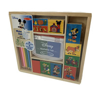 Melissa & Doug Mickey Mouse Clubhouse on the Farm Wooden Stamp Set Color Pencils - $15.85