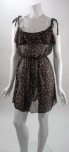 Jessica Simpson Sheer Floral Tie Shoulders Sheer Bathing Suit Cover NWT ... - $15.43