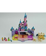 Polly Pockets Disney Enchanted Castle Cinderella Coach Horse Figures Blu... - $89.09