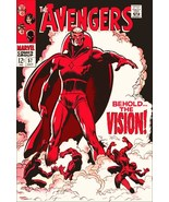 """Marvel The Avengers #57 """"Behold The Vision"""" Comic Cover Stand-Up Display - $15.99"""