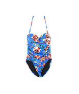 Lauren Ralph Lauren Havana Floral Twist Bandeau One-Piece Swimsuit, Blue, 6 - $59.39