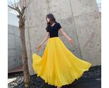 Yellow chiffon skirt 1 thumb155 crop