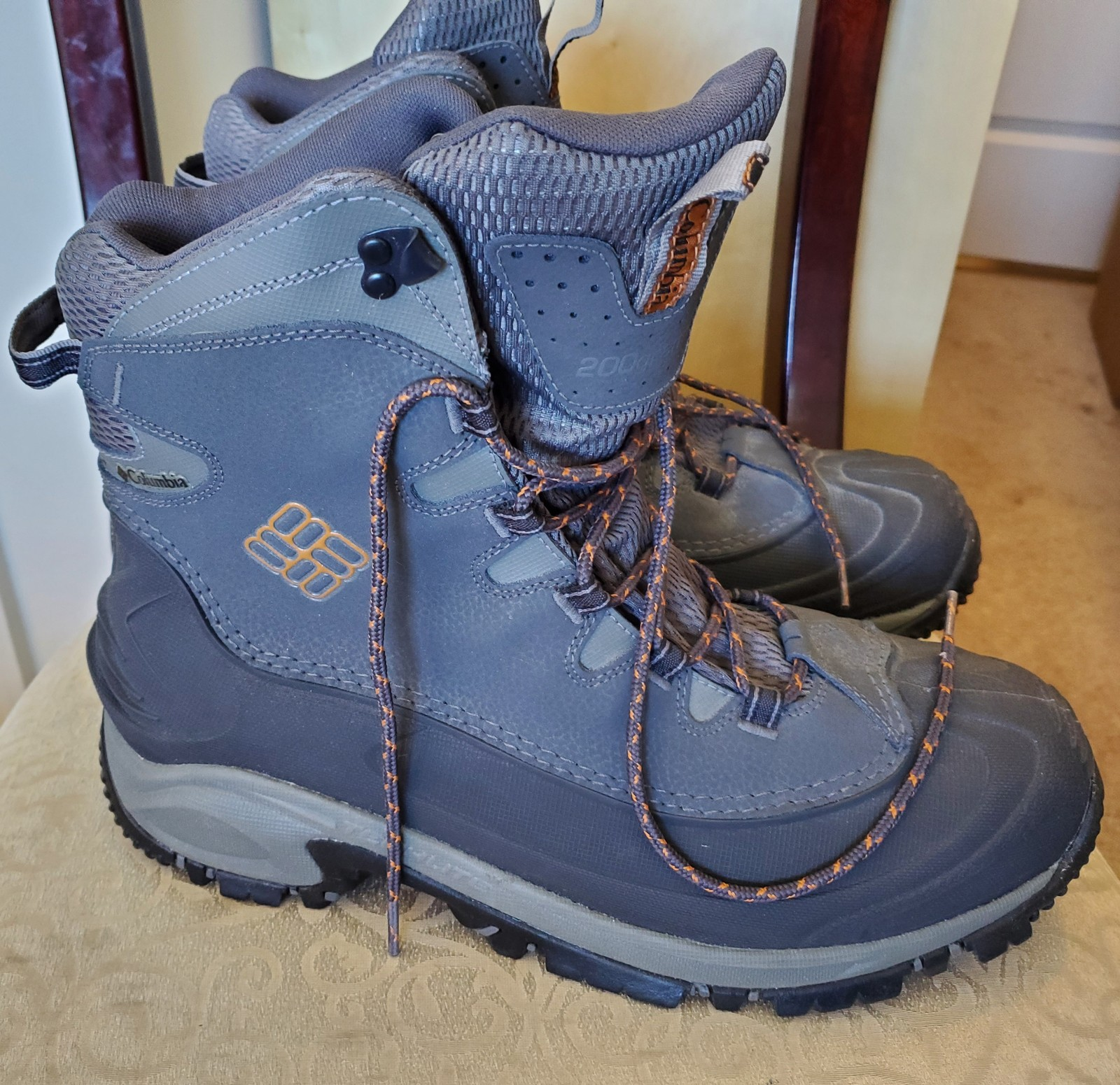 Primary image for Mens Boots Columbia Bugaboot Snow Boot NEW Charcoal Grey size 13
