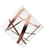 100 Rose Gold Copper Foil Cocktail Napkins, Disposable Decorative Napkin... - $13.10