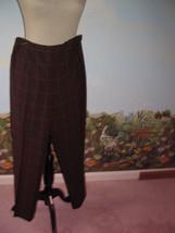 Ann Taylor Loft Stretch  Brown Plaid Pants Size 8 - $18.81
