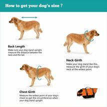 HAOCOO Dog Life Jacket Vest Saver Safety Swimsuit Preserver W/Reflective Strip image 4