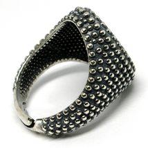 Men's Ring Silver 925, Burnished and Speckled, Oval, Size Adjustable image 3