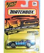 1994 Matchbox Super Fast Corvette T-Top Collector #58 Mint On Card - $4.00