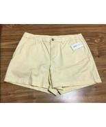 Maison Jules women's Flat-Front Chino Shorts,light lemon 10 - $9.89