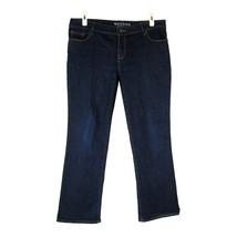 "Sonoma Stretch Denim Dark Wash Jeans 14P Mid Rise Demi Bootcut 28.5"" Inseam - $9.90"