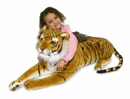 Giant Plush Tiger Soft & Cuddly Life-Like Details (Body About 47 IN, Tail 30 IN) image 4